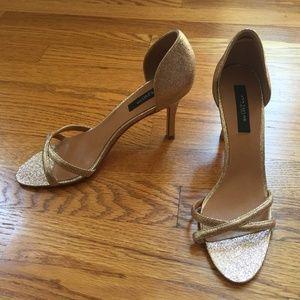 Gold Light Sandal Heels by Ann Taylor - Size 7 1/2